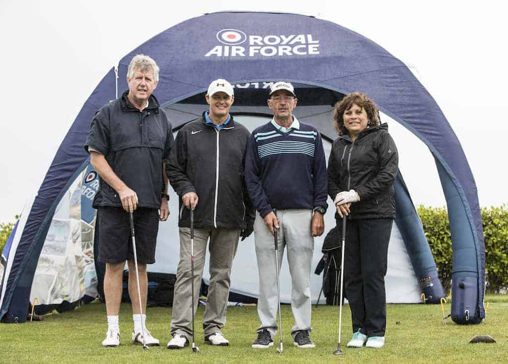 RAF charity golf tournment raises money for down's syndrome.