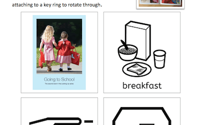 Going to School – MAKATON Signs and Symbol – downloadable resource