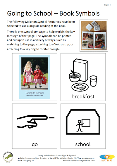 Going To School Makaton Signs Symbols Version 1 Cornwall