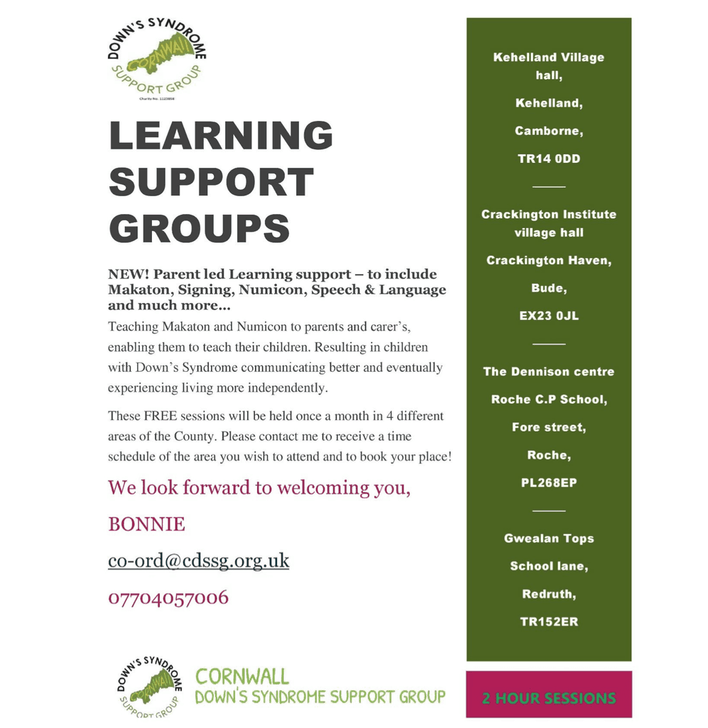 Parent led learning support groups, CDSSG Cornwall