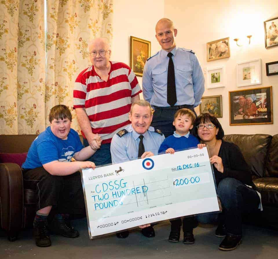 RAF St Mawgan raise £200 for CDSSG